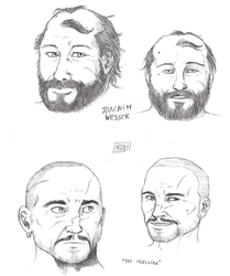 ''Daily Sketch'' - Even More Faces by 0laffson