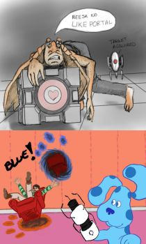Portal crossover sketches by CloudlinerCorona