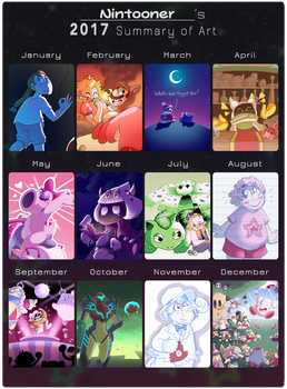 2017 Summary of Art by Nintooner