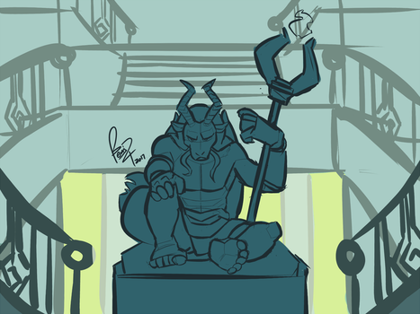 Statue In The Mansion, Concept Art by benj24