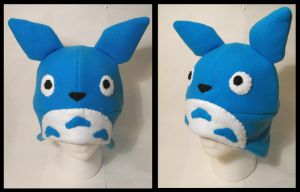 Blue Totoro Fleece Hat by CosmicalFox