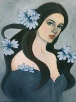Blue flowers by PaolaCamberti