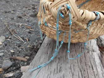 Driftwood and Basket Weaving with Evil Eye Beads by WeepingGrove