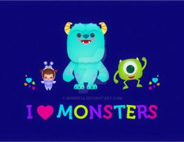I love Monsters! by minercia