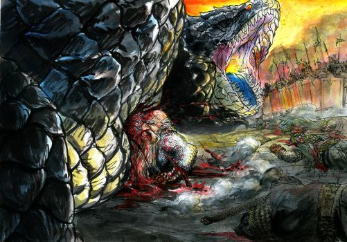 Azaghal and Glaurung by Artigas