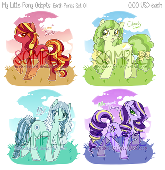 Adopts - MLP Earth Ponies (SOLD) by Beedalee-Art
