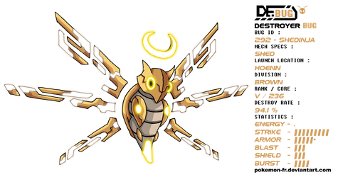 DeBUG 292 - Shedinja by Pokemon-FR