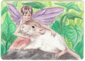 Thumbelina + her Fairy Friend by theillustratedrat