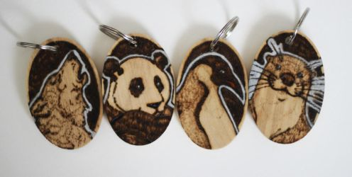 Sycamore Animal Keyrings by BumbleBeeFairy