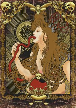 Art Nouveau/steampunk-mashup2 by yngraphic
