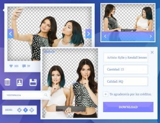 Pack Png #01 - [Kylie y Kendall Jenner] by VicStephan16