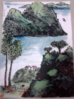 Chinese Scenery Painting by Wumzie
