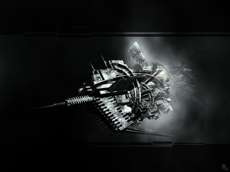Deadly Sharp Spear Finned Spacecraft by ameshin
