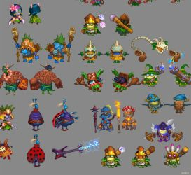 Concepts for game characters 4 by Jonik9i