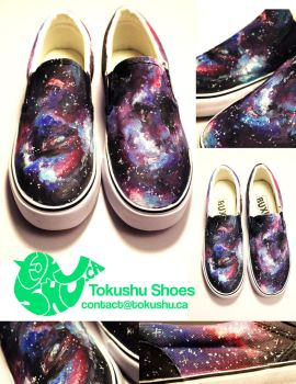 Galaxy Canvas Shoes - Hand Painted by artsyfartsyness