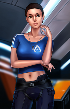 Young Ashley (Mass Effect) by Mikesw1234