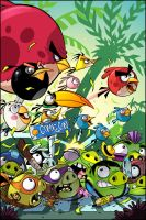 Angry Birds Issue 1 cover art by Red-J