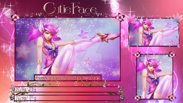 Pink Flower Paradise Desktop Stream Overlay by SnOwInWiNtEr