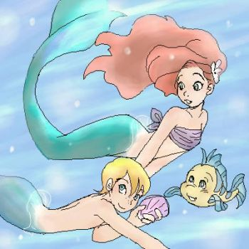 Young little mermaids by shibu