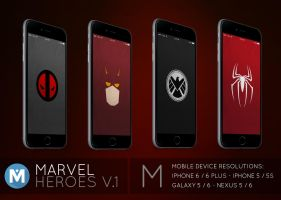 MOBILE : Marvel Heroes 1 Wallpaper Pack by polygn