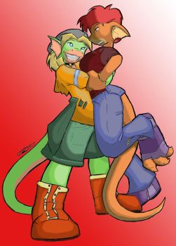 Huggles - colored by Dracosapien