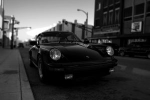 Porche Black and White by 20after4