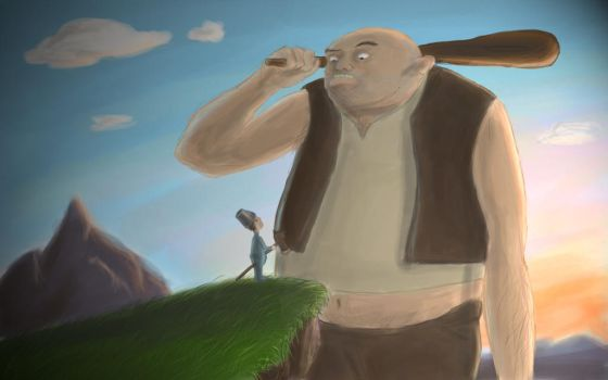 The kid and the giant by mattanimation