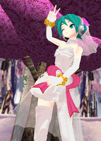 MMD Miku White Dress DL Diva edition by Teren000