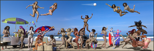 Beach Party! by Nathanomir