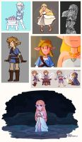 BotW Doodles (January - March 2017) by Chromel
