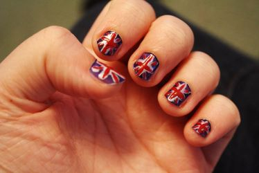 Union Jack nails by Itti