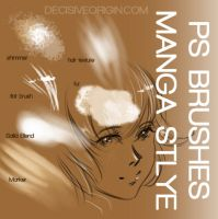 Manga photoshop brushes by Cetriya