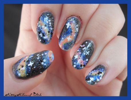 Nail Art: Galaxy by KittyKlawzPolish