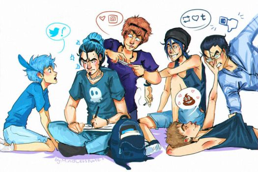 social networks: humanized 2 by MindlessKate
