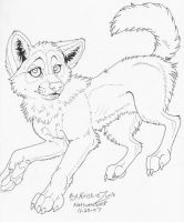 Free Wolf Pup Lineart by NatsumeWolf