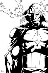 Vision close up Inked by TyndallsQuest