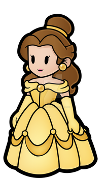 Paper Mario Disney Belle by Decapitated-Kittens