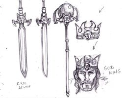 Sketches concept - King jarvan attributes by Nee-k