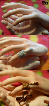 Commission: hand repair and ring by PuppitProductions