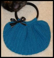 Blue Evening Bag by radioactive-orchid