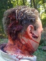 Zombie Head Damage. Sept-27-09 by The-Oubliette