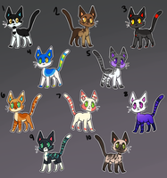 Cat Hoard 3! [Adopts-Open!!] by goatlet