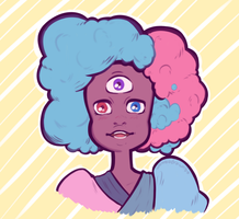 Cotton Candy Garnet by wombodrawnbo