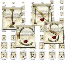Steampunk Letters Iconset in MAC ICNS format by yereverluvinuncleber