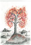 Red tree by Amaneser
