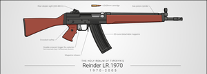 Reinder LR.1970 Assault Rifle by graphicamilitare