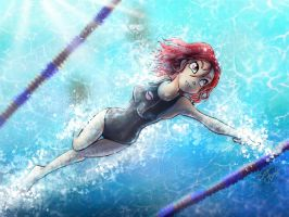 Will's Olimpic Swimming Competition by Banditcat123