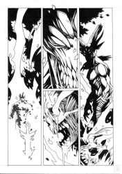Sword of the Damned (page 8, no lettering) by 9thRealm