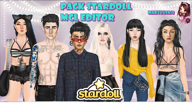 PACK STARDOLL-DOLLS PARA MCL EDITOR by Marylusa18