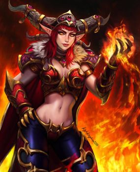 Alexstrasza Fury by KyleKayhosDraws